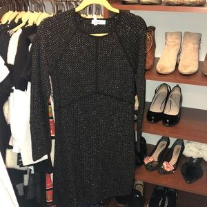 Black and Gold Zara Knit Dress-Med